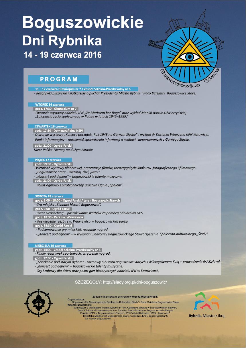 Program – Boguszowickie Dni Rybnika 2016