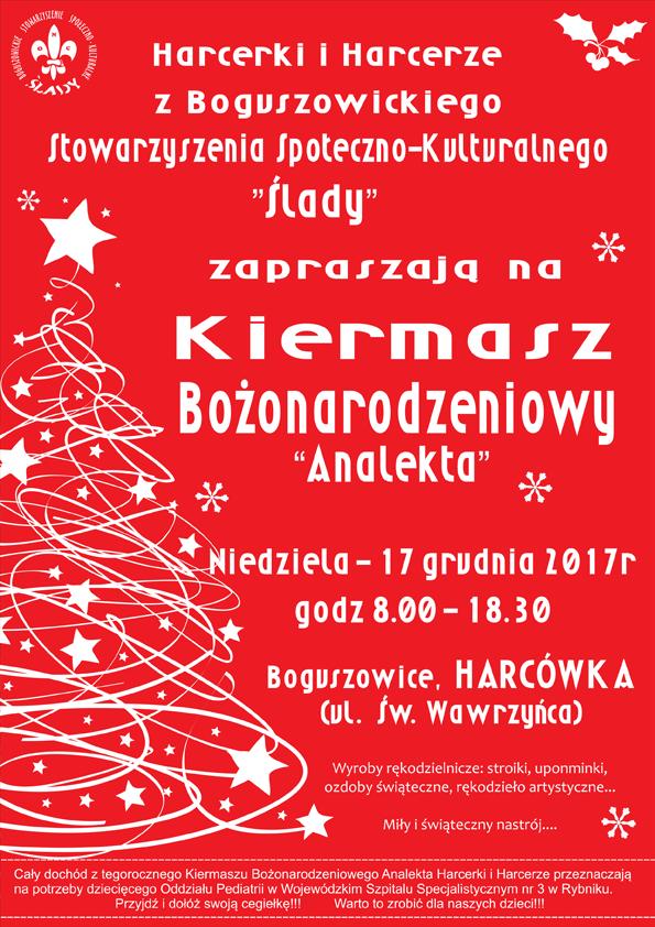 """KIERMASZ BOŻONARODZENIOWY """"ANALEKTA 2017"""""""