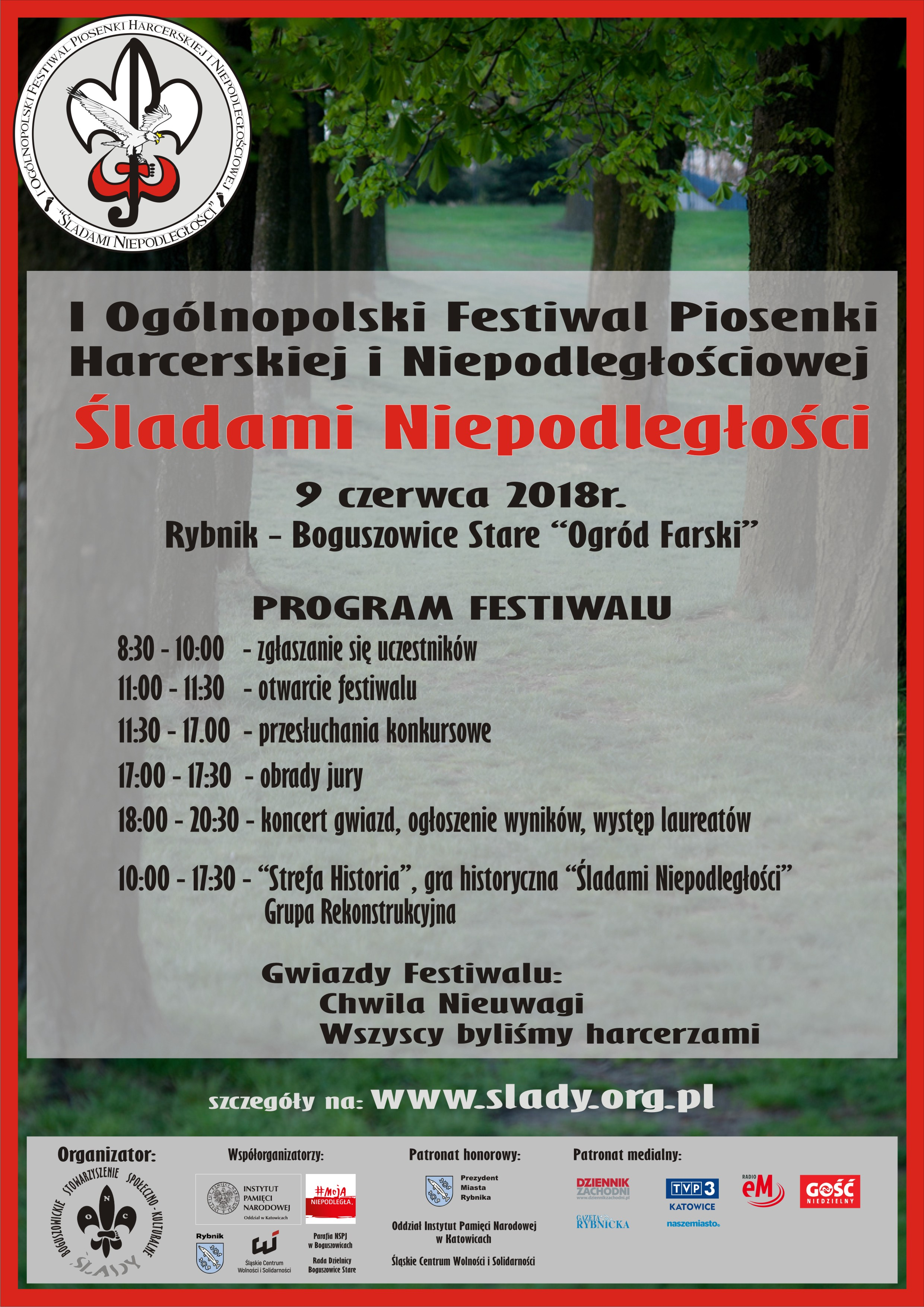 """I Ogólnopolski FestiwalPiosenki Harcerskiej i Niepodległościowej """"Śladami Niepodległości"""""""