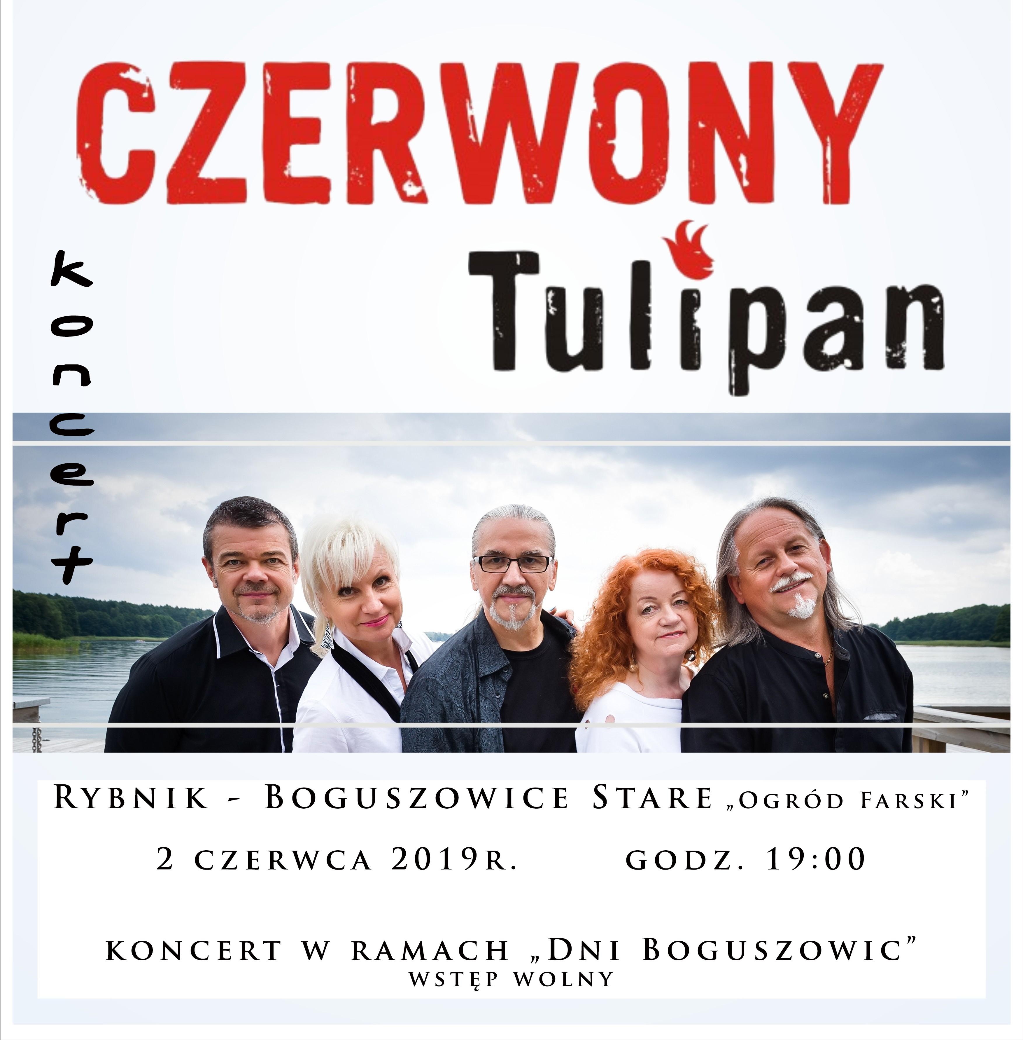 """Koncert zespołu """"Czerwony Tulipan"""" 02.06.2019 godzina 19:00"""