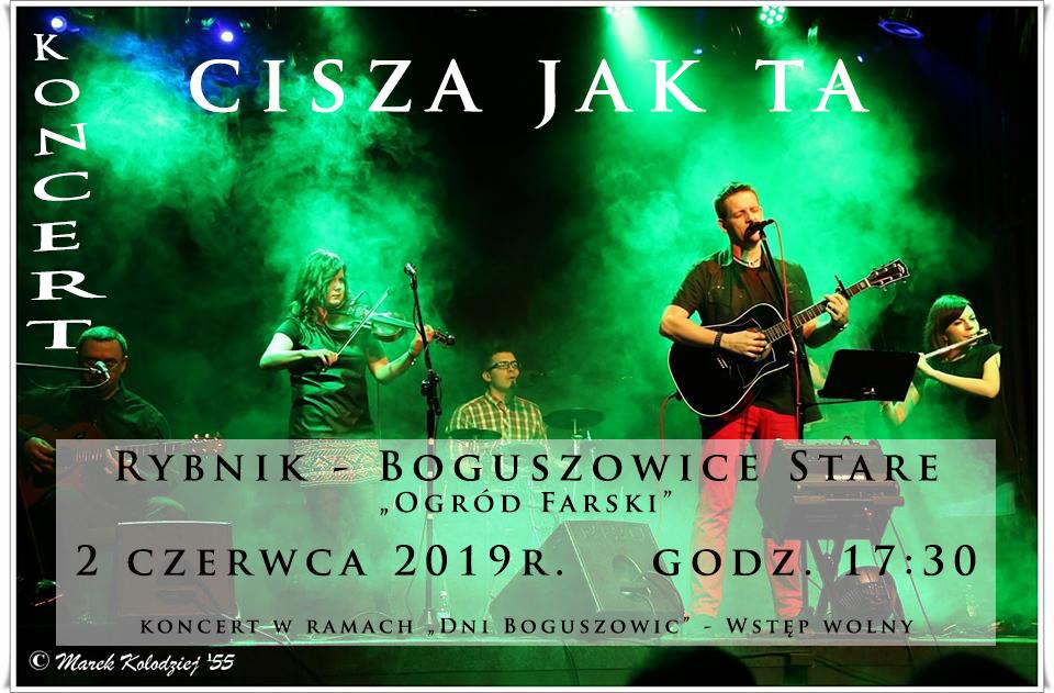 """Koncert zespołu """"Cisza Jak Ta"""" 02.06.2019 godzina 17:30"""